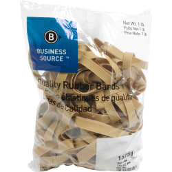 "Business Source Quality Rubber Bands - Size: #84 - 3.5"" Length x 0.5"" Width - Sustainable - 150 / Pack - Rubber - Crepe"