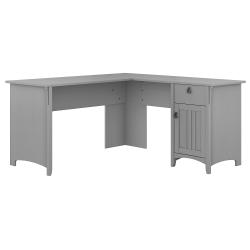 Bush Furniture Salinas L Shaped Desk With Storage, Cape Cod Gray, Standard Delivery
