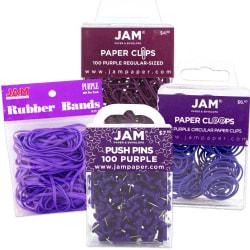 JAM Paper® 4-Piece Office Set, Purple