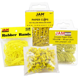 JAM Paper® 4-Piece Office Set, Yellow