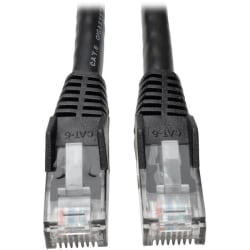 Tripp Lite 15ft Cat6 Gigabit Snagless Molded Patch Cable RJ45 M/M Black 15' - 15 ft Category 6 Network Cable for Network Device - First End: 1 x RJ-45 Male Network - Second End: 1 x RJ-45 Male Network - Patch Cable - Black
