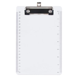 "JAM Paper® Plastic Mini Clipboard, 6"" x 9"", Clear"