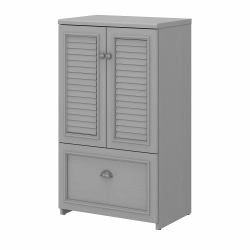 Bush Furniture Fairview Shoe Storage Cabinet With Doors, Cape Cod Gray, Standard Delivery