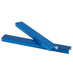 """JAM Paper® Standard Staples, 1/2"""" Full Strip, Blue, Box Of 5,000 Staples"""