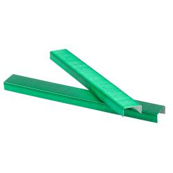 """JAM Paper® Standard Staples, 1/2"""" Full Strip, Green, Box Of 5,000 Staples"""