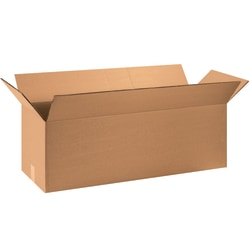 "Office Depot® Brand Double-Wall Heavy-Duty Corrugated Cartons, 36"" x 8"" x 8"", Kraft, Box Of 15"