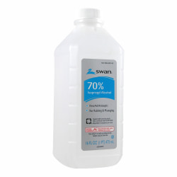 Swan 70% Rubbing Alcohol, 16 Oz