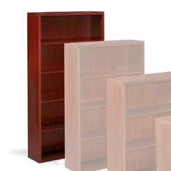 HON® Valido™ 5-Shelf Bookcase, Mahogany