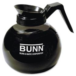 Bunn® Pour-O-Matic 12-Cup Decanter, Regular, Clear/Black