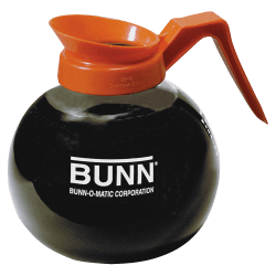 Bunn® Pour-O-Matic 12-Cup Decanter, Decaffeinated, Clear/Orange