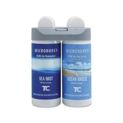 Rubbermaid® Microburst® Duet Refills, Ocean Breeze/Sea Mist, Carton Of 4