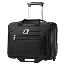 "Samsonite Classic 43876-1041 Carrying Case (Roller) for 15.6"" Notebook - Black - Ballistic Fabric - Handle - 13.3"" Height x 16.5"" Width x 8"" Depth"