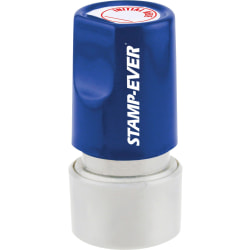 """Stamp-Ever Pre-inked Initial Here Round Stamp - Message Stamp - """"Initial Here"""" - 0.75"""" Impression Diameter - 50000 Impression(s) - Red - 1 Each"""