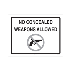 """ComplyRight Federal Specialty Posters, English, No Concealed Weapons Allowed, 8 1/2"""" x 11"""""""