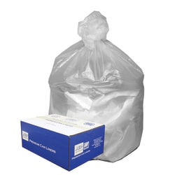 """Webster Ultra Plus™ High-Density Trash Can Liners, 31-33 Gallons, 11 Mic Thick, 33"""" x 40"""", Box Of 100"""