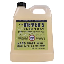 Mrs. Meyer's Clean Day Liquid Hand Soap, Lemon Scent, 33 Oz, Carton Of 6 Bottles