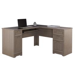 "Realspace® Magellan 59""W L-Shape Corner Desk, Gray"
