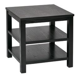 Ave Six Merge End Table, Square, Black