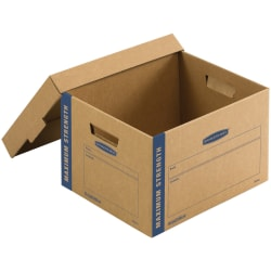 """Bankers Box® SmoothMove Moving Boxes, Small, 1213/16""""W x 16 1/2""""D x 10 1/16""""H, Pack Of 8"""