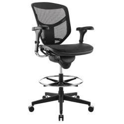WorkPro® Quantum 9000 Series Ergonomic Mesh Mid-Back Stool Chair, Black