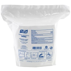 Purell® Hand Sanitizing Wipes Refills For High-Capacity Dispensers, Citrus Fragrance, 1,700 Wipes Per Pouch, Case Of 4 Pouches