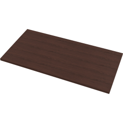 "Fellowes High Pressure Laminate Desktop Mahogany - 72""x30"" - Mahogany Rectangle, High Pressure Laminate (HPL) Top - 72"" Table Top Length x 30"" Table Top Width x 1.13"" Table Top Thickness - Assembly Required"