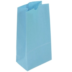 "JAM Paper® Kraft Lunch Bags, 11""H x 6""W x 3-3/4""D, Baby Blue, Box Of 500 Bags"