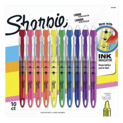 Sharpie® Liquid Accent® Pen-Style Highlighters, Assorted Colors, Pack Of 10