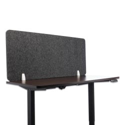 """Lumeah Desk Screen Cubicle Panel And Office Partition Privacy Screen, 23-1/2""""H x 54-1/2""""W x 1""""D, Ash"""