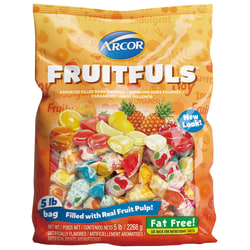 Arcor Assorted Candies, Fruit Filled, 5-Lb Bag