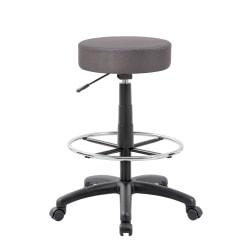 Boss Office Products DOT Mesh Stool, Gray/Black