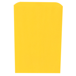 """JAM Paper® Small Merchandise Bags, 9-1/4""""H x 6-1/4""""W x 1/2""""D, Yellow, Pack Of 1,000 Bags"""