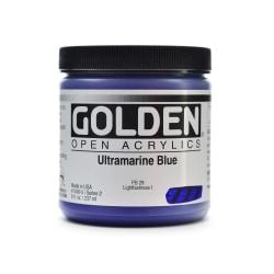Golden OPEN Acrylic Paint, 8 Oz Jar, Ultramarine Blue
