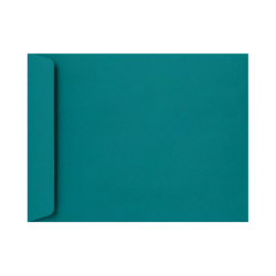 """LUX Open-End Envelopes With Peel & Press Closure, 10"""" x 13"""", Teal, Pack Of 250"""