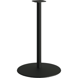 """HON® Between Tabletop Disc Base For 42"""" Tabletops, 40-3/4""""H x 25-13/16""""W x 25-13/16""""D, Black"""