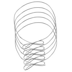 """JAM Paper® Medium Elastic Gift Wrap String Ties, 16"""", Silver, Pack Of 5 Ties"""