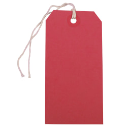 """JAM Paper® Medium Gift Tags, 4-3/4"""" x 2-3/8"""", Red, Pack Of 10 Tags"""