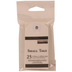 "JAM Paper® Small Gift Tags, 3-1/4"" x 1-9/16"", White, Pack Of 25 Tags"
