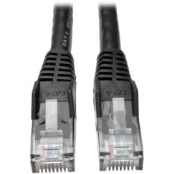 Tripp Lite 1ft Cat6 Gigabit Snagless Molded Patch Cable RJ45 M/M Black 1' - 1ft
