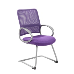 Boss Mesh Guest Chair, Purple/Silver