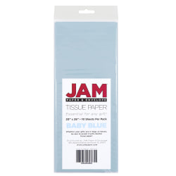 "JAM Paper® Tissue Paper, 26""H x 20""W x 1/8""D, Baby Blue, Pack Of 10 Sheets"