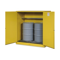 Vertical Drum Safety Cabinets, Manual-Closing, (2) 55 Gallon Drum, w/Rollers