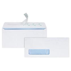 "Quality Park® Redi-Strip™ Business Envelopes, #10, 4 1/8"" x 9 1/2"", Window, White, Box Of 500"