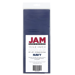 """JAM Paper® Tissue Paper, 26""""H x 20""""W x 1/8""""D, Navy Blue, Pack Of 10 Sheets"""