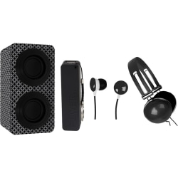 Naxa NAS-3061A Portable Bluetooth Speaker System - Black - 100 Hz to 20 kHz - Battery Rechargeable