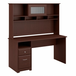 """Bush Furniture Cabot Computer Desk with Hutch and Drawers, 60""""W, Harvest Cherry, Standard Delivery"""
