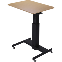 "Lorell® 30""W Sit-to-Stand School Desk, Black Oak"