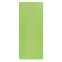 "Amscan Small Plastic Treat Bags, 9-1/2""H x 4""W x 2-1/4""D, Kiwi Green, Pack Of 125 Bags"