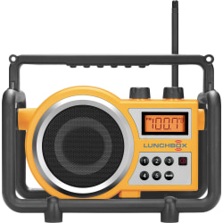 Sangean LUNCHBOX LB-100 Radio Tuner - 6 x FM, 6 x AM PresetsLCD Display - 4 x C