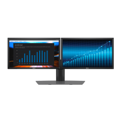 """Dell 23"""" FHD IPS Monitors And Dual Monitor Stand, 3 Piece Bundle"""